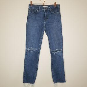 Levi's slimming skinny distressed Jean's (a)